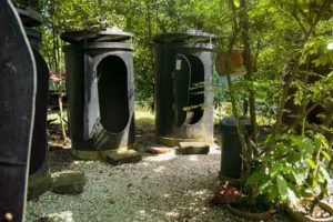 Earth Camp Facilities- recycled materials toilets